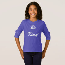 Be Kind Purple Long Sleeve