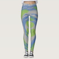 green and blue leggings