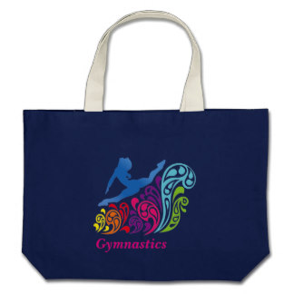 gymnastics_large_navy tote