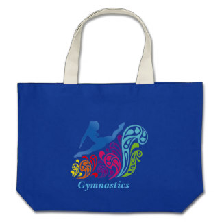 gymnastics_large_tote_bag
