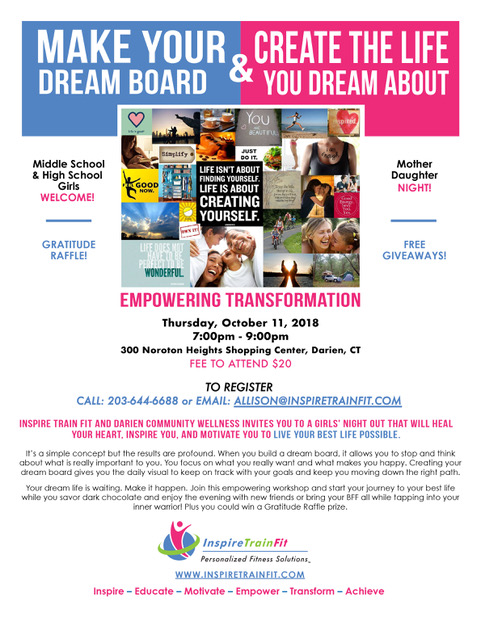 Dream Board Workshop Flyer